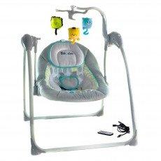 Balancelle / transat bébé Electrique LILOU 2 : MP3 + télécommande + chargeur BEBE2LUXE BALANCELLE