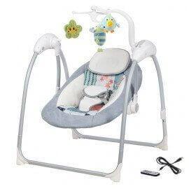 Balancelle & Transat bébé Electrique LILOU (gris clair)