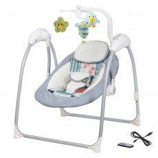 Balancelle / transat bébé Electrique LILOU 3 : MP3 + télécommande + chargeur BEBE2LUXE Balancelle electrique