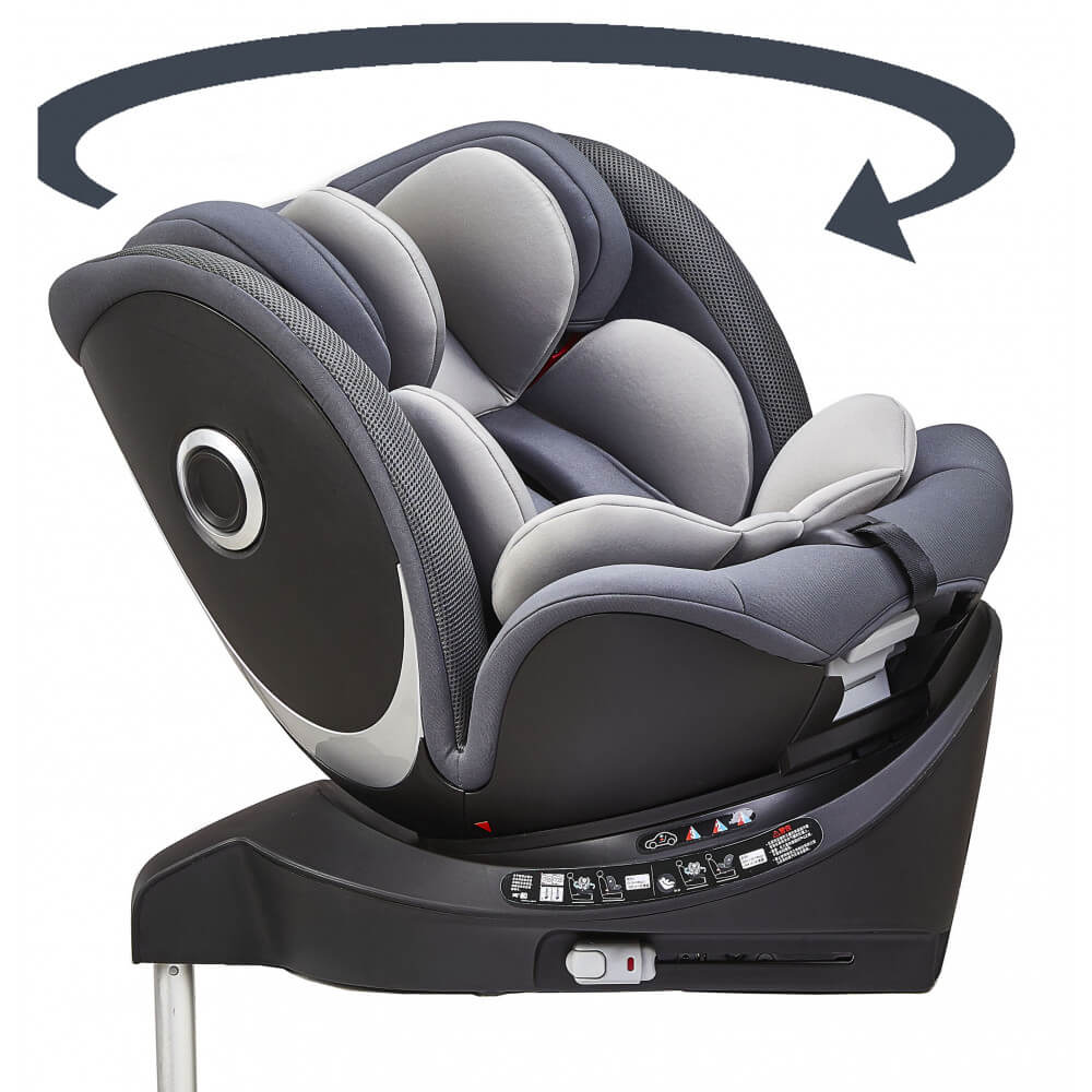 CAR SEAT IONE SIZE ISOFIX - 360° DEGREE ROTATION- GROUP 0+/1