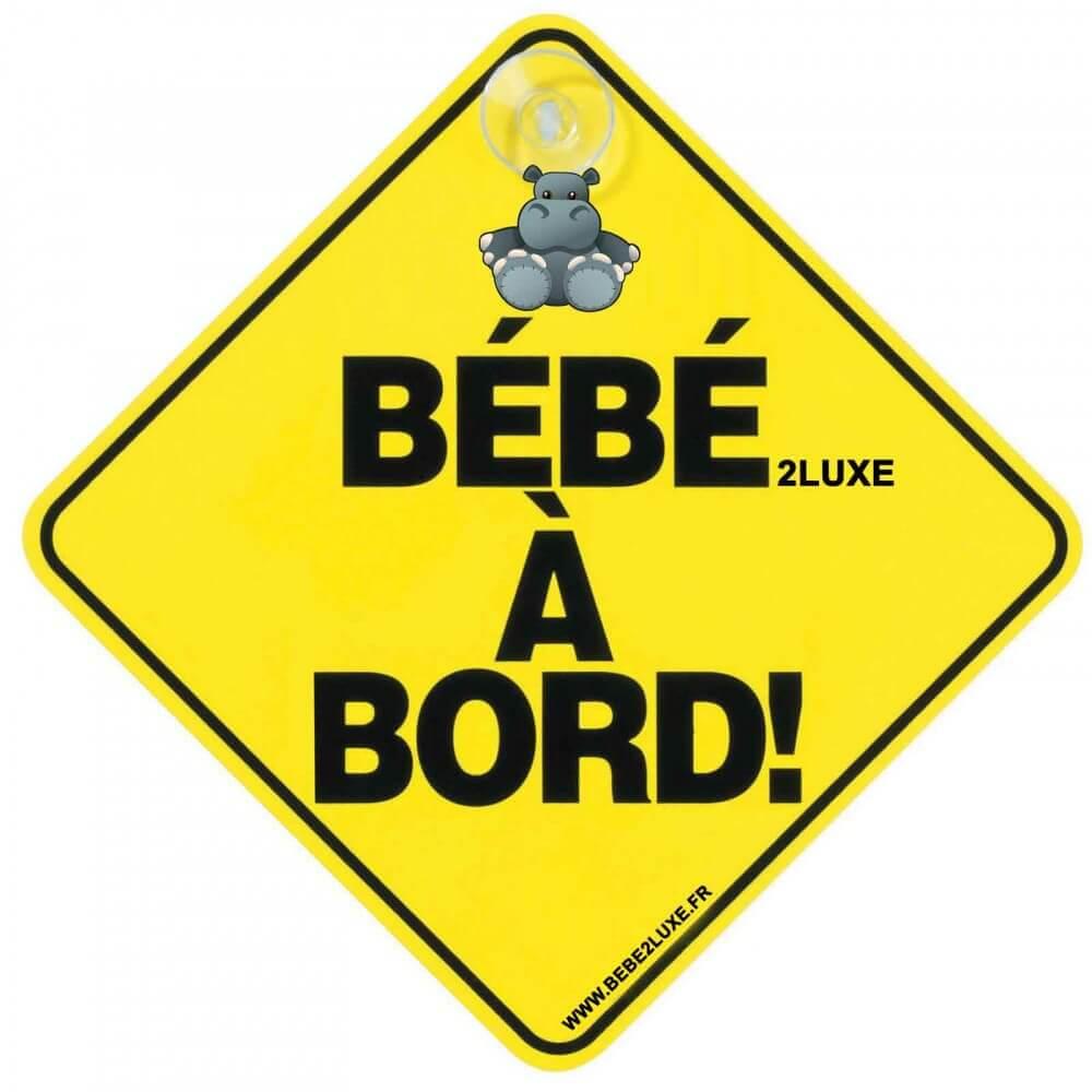 Accessory BEBE2LUXE Signalétique Bébé à bord à ventouse