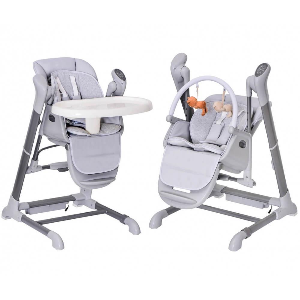 Chaise Haute, transat et Balancelle. Evolutif : SPLITY 3 en 1 BEBE2LUXE Chaise haute