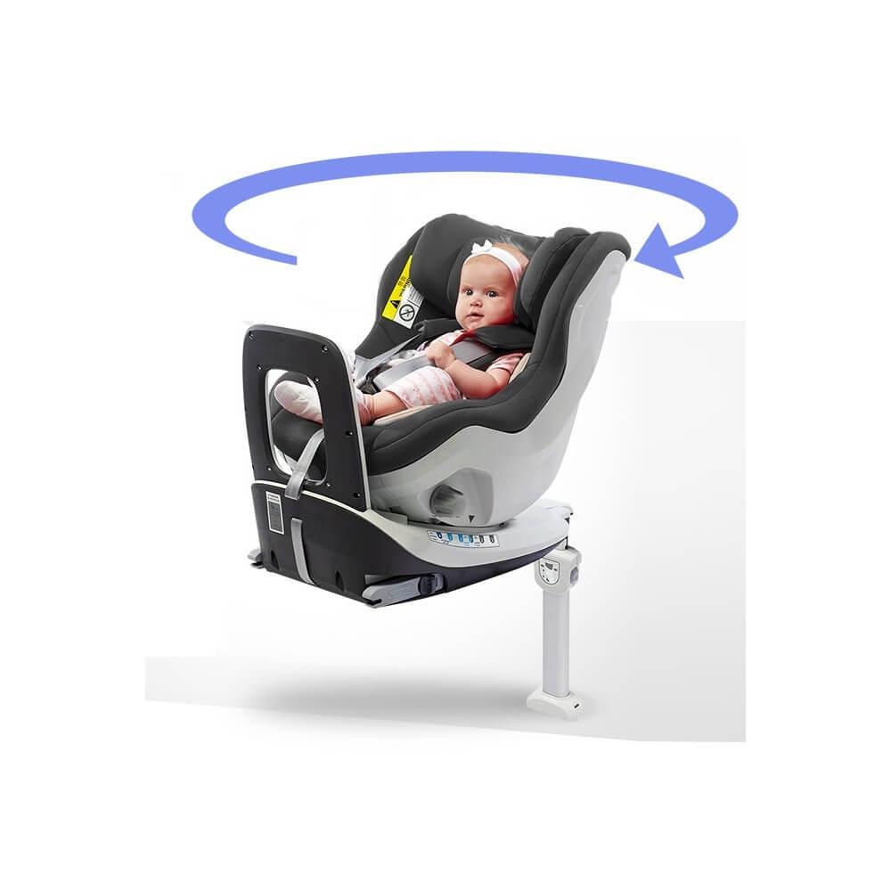 si ge auto pivotant 360 bebe2luxe the one noir isofix de. Black Bedroom Furniture Sets. Home Design Ideas