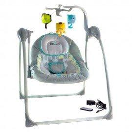 Balancelle / Transat bébé électrique : LILOU (gris)