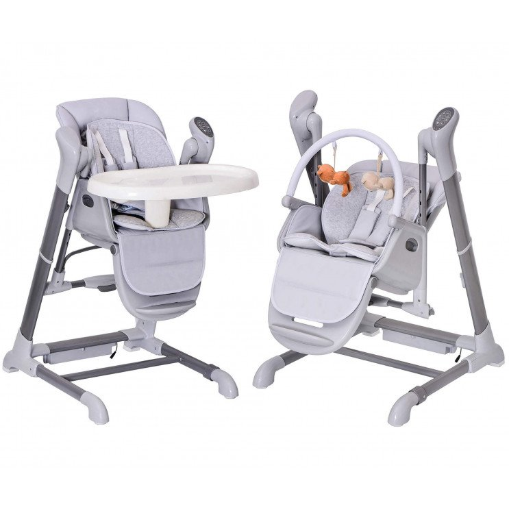 Splity 7 in 7 : High Chair & Swing ( MP7-Player via USB, remote)