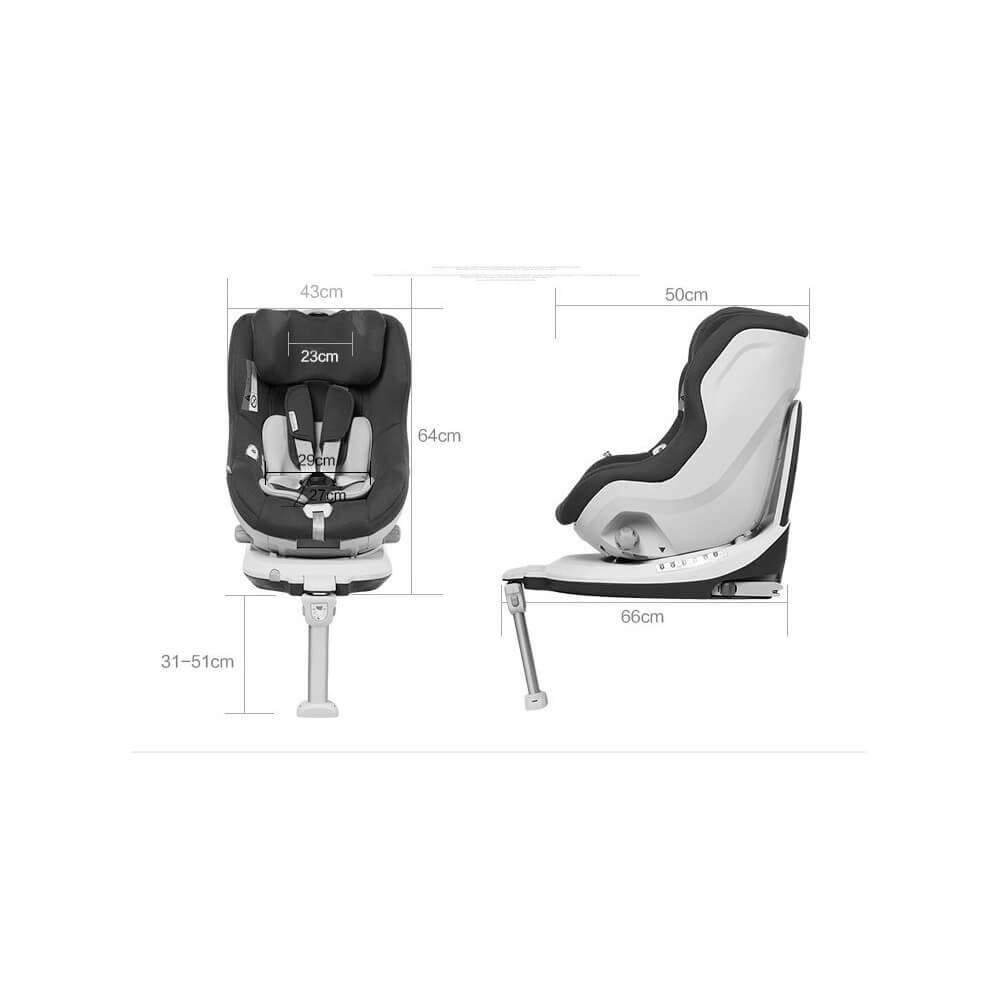 si ge auto pivotant 360 39 the one 39 black groupe 0 1 isofix. Black Bedroom Furniture Sets. Home Design Ideas