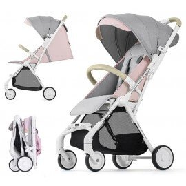 Compact baby stroller Okto pink