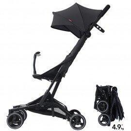Ultra compact stroller PIKO black