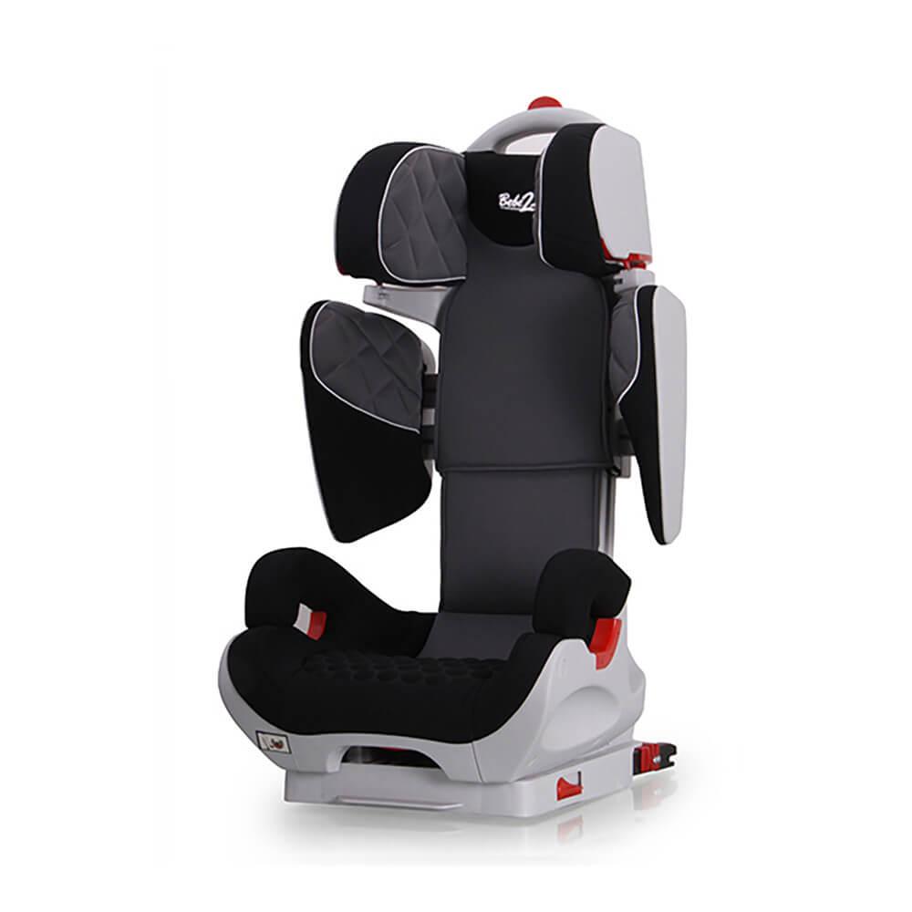 Siège Auto Safe Robot gris IsoFix inclinable de 3 a 12 ans - Groupe 2,3 : 15-36 kg - (SPS) BEBE2LUXE SIEGE AUTO