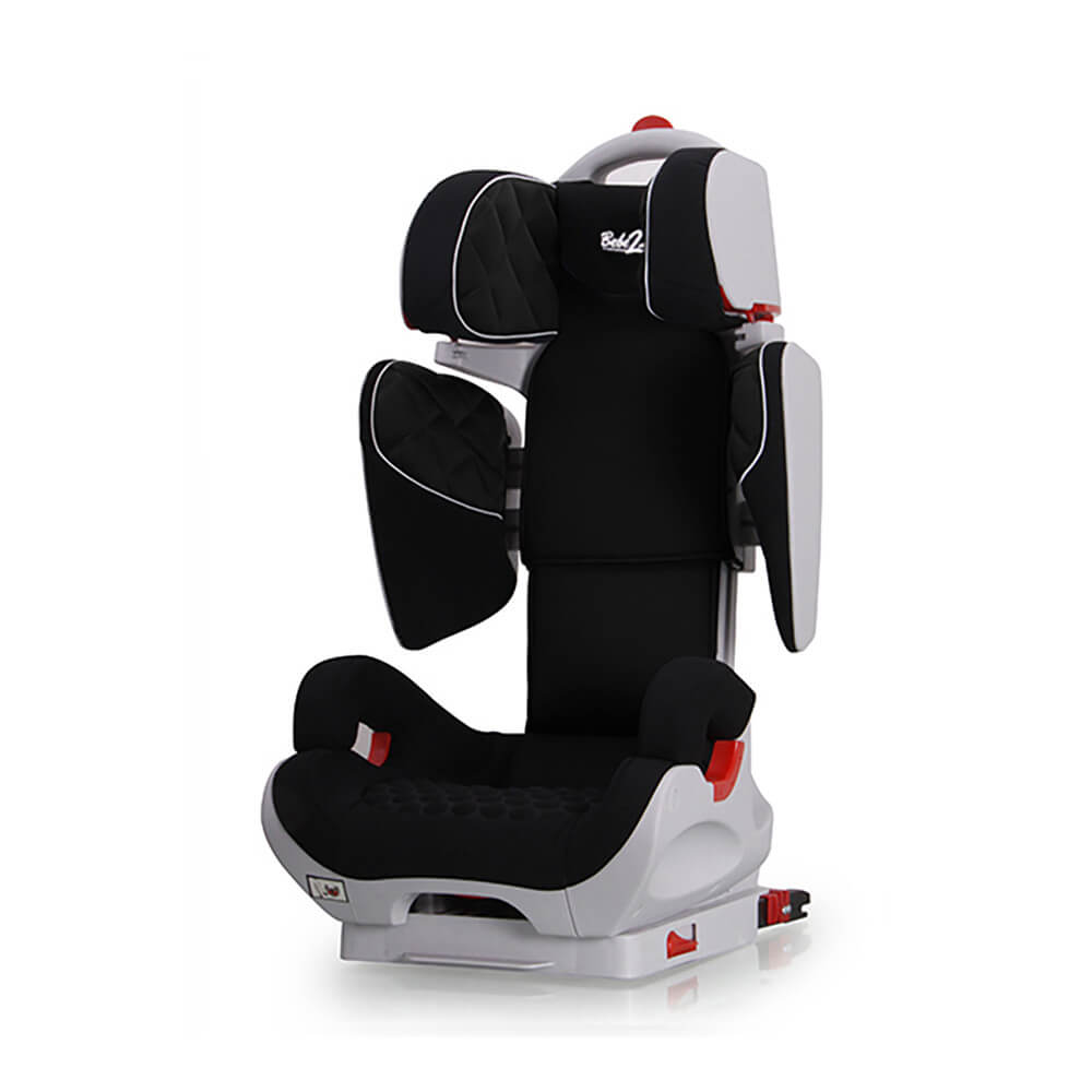 si ge auto safe robot noir isofix inclinable de 3 a 12 ans. Black Bedroom Furniture Sets. Home Design Ideas