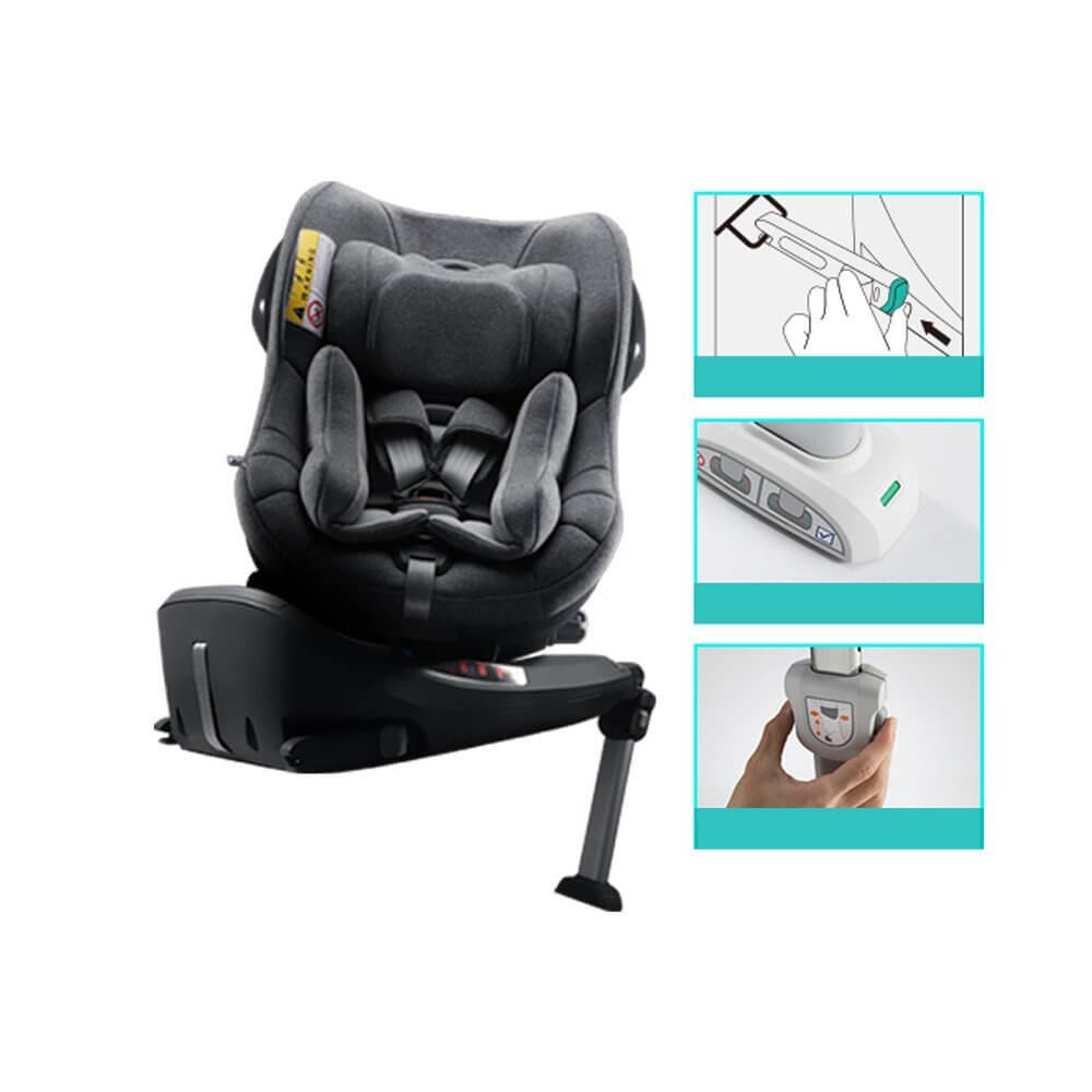 car seat isofix ione isize 360 degree rotation group 0 1