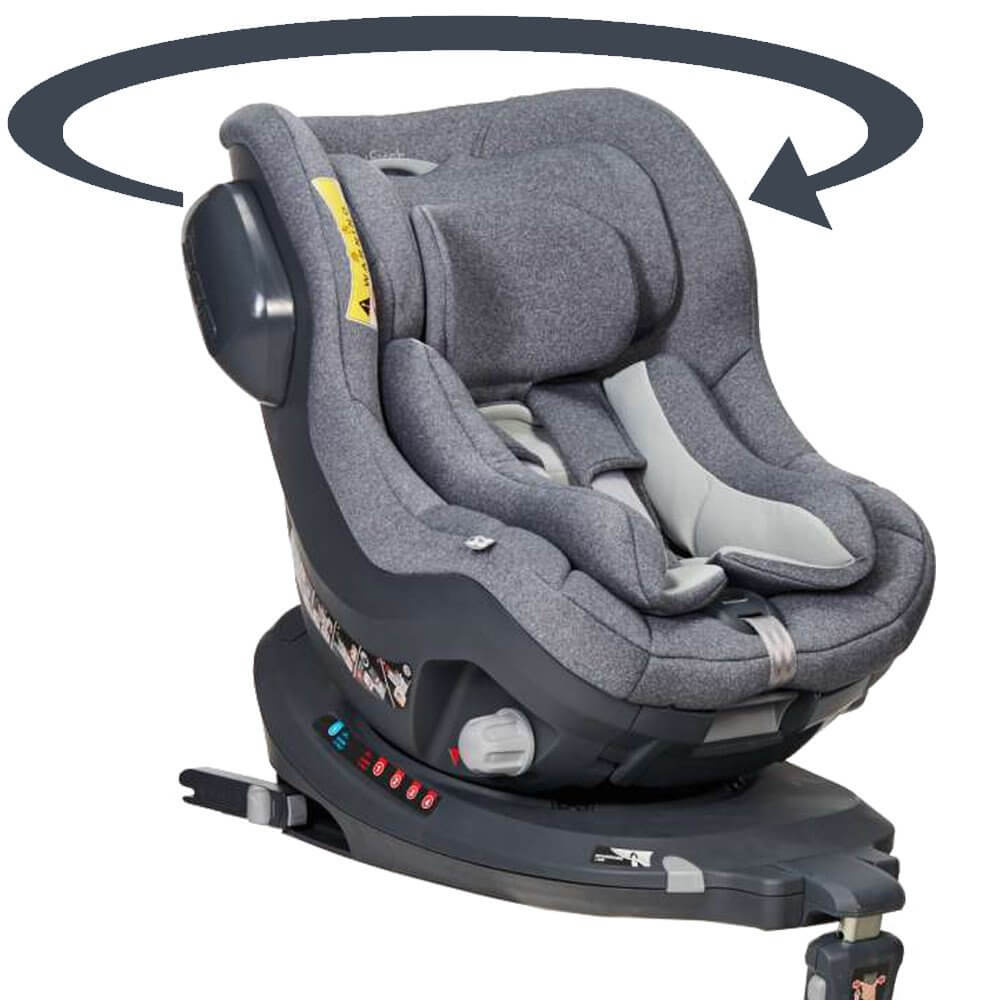 The One Bebe De Luxe car seat isofix - ione isize 360° degree rotation- group 0+/1
